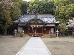 吉志部神社 拝殿(焼失前)